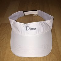 Dime White Visor Hat Size One Size $25