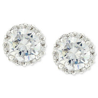 Giani Bernini Pavé Cubic Zirconia Stud Earrings (1-3/4 ct. t.w.) in Sterling Silver | macys.com