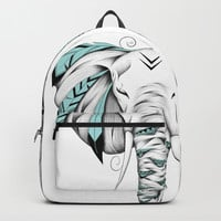 Poetic Elephant Backpack by loujah