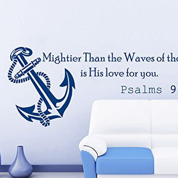 Anchor Love Quotes Entrancing Wall Decals Quotes Vinyl Sticker Decal From Amazon  Wall Decals