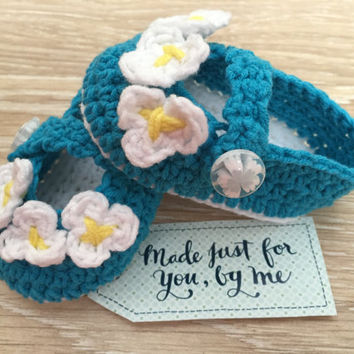 Crochet Baby Girl Love Me, Love Me Not... Ballerina - Baby Shower Gift