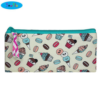 NEW!  Food Pencil Pouch-Ice Cream Pencil Case-Cupcake Zipper Bag-Macarons Bag