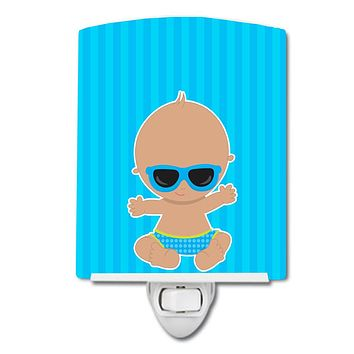 Beach Baby Boy Sunglasses Ceramic Night Light BB8652CNL