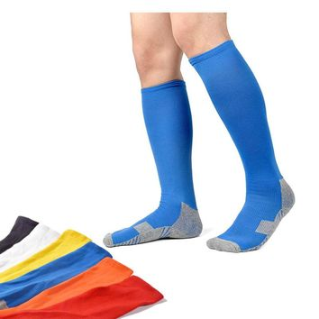 6 Colors Unisex  Nylon Compression Socks Breathable Longer Men's Socks  Anti Fatigue Magic Leg Slimming Socks