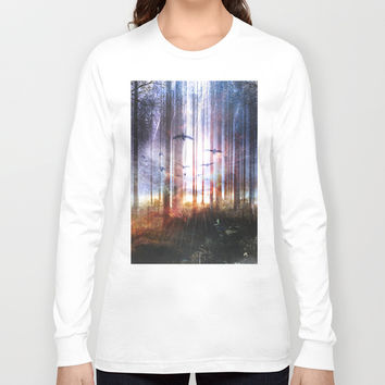 Absinthe forest Long Sleeve T-shirt by HappyMelvin