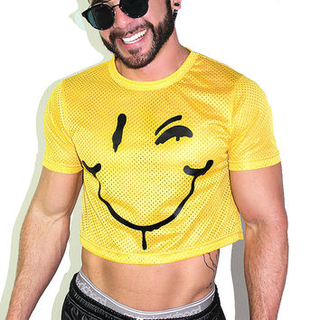 Smiles for Miles Crop Tee- Yellow