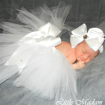Christening Baptism Announcement outfit All by LittleMadamtutu