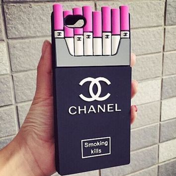 Chanel Fashion Personality Cigarette iPhone Phone Cover Case For iphone 6 6s 6plus 6s-plus 7 7plus 8 8plus