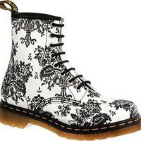 Dr. Martens 1460 W 8 Eye Boot (Flocked)