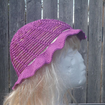 Radiant Orchid summer bucket hat, radiant orchid sun hat, crochet hat