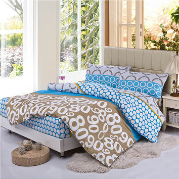 bedding sets Fitted sheet + duvet cover +pillocase fitted sheet set cushion cover bedclothes bed sheet 4pcs/set bed linen set