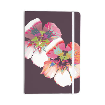 "Love Midge ""Graphic Flower Nasturtium"" Lavender Floral Everything Notebook"