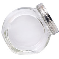 Bulk Classic Counter Top Glass Cookie Jars with Metal Lids at DollarTree.com