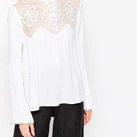 ASOS Ultimate Embroidered High Neck Blouse at asos.com