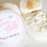 Toasted Marshmallow Whipped Body Butter! Handmade Body Butter 3oz