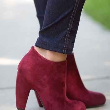 Catwalk Booties-Burgundy