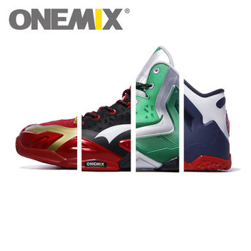 Original ONEMIX Brand Cheap Basketball Shoes Men Steel Carapace Zatillas de Basquet Athletic Sport Sneakers Antislip Free Ship