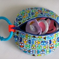 Pacifier Case Binky Case Paci Pod Pacifier Keeper Owl Zipper Case