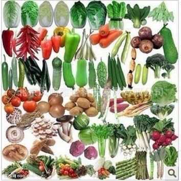 (50 Count/pack) Balcony/Patio Vegetables-Mix 100% Organic Vegetable (Small Space)