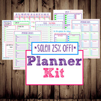 25% OFF-INSTANT DOWNLOAD-Planner Kit-Printable Planner & To Do Lists