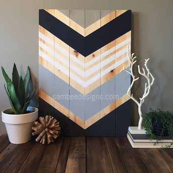 Modern Rustic Chevron, Reclaimed Wood Wall Art, Wall Art, Large Wood Wall Art, Geometric Wood Wall Art, Boho Wood Wall Art, Wood Wall Art
