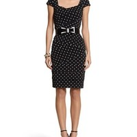 White House | Black Market Instantly Slimming Dot Tiered Dress