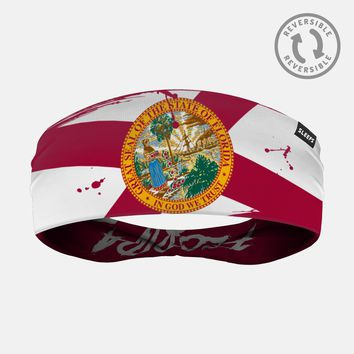Florida State Flag Letters Doublesided Headband