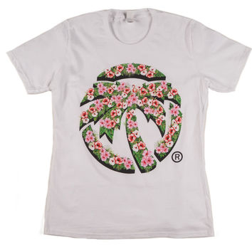 Heat Wave Hyper Floral T-Shirt Ladies White