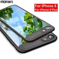mofi fitted case for iphone 8 case silicone transparent clear luxury men's protective black coque for iPhone 8 plus case cover
