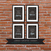 I Love You In The Morning, And In The Afternoon, I Love You In The Evening, Underneath The Moon, Chalkboard, Typography, Nursery Quote Art