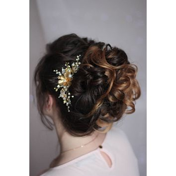 Bridal Floral Decorative Hair Clip