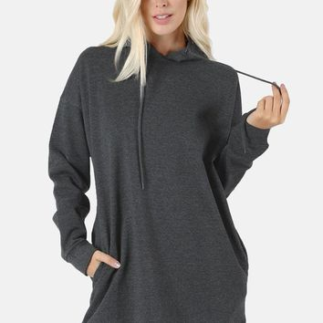 Charcoal Hoodie Leggings Tunic - 1X/2X/3X