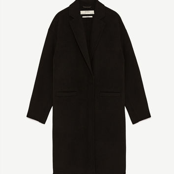WOOL COAT WITH ZIP DETAILS