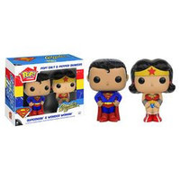 POP! HOME: DC - SUPERMAN AND WOMDER WOMAN SALT & PEPPER SHAKERS