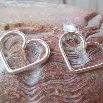 14K Gold Filled,925 Sterling Silver Heart Daith piercing ring,cartilage,helix,tragus,ear hoop earring