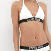 Women's Sexy Bandage Strap Calvin Klein Print Bikini Set Swimwear Bathing Suits