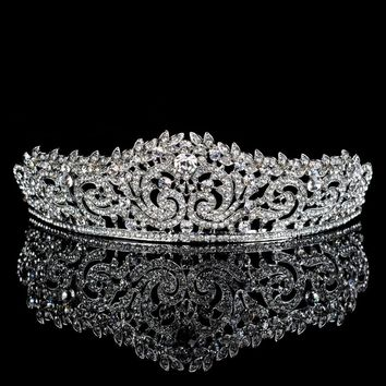 Topwedding Rhinestones Bridal Headpiece Wedding Tiara Crown, women