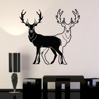 Vinyl Wall Decal Animals Deer Hunting Room Decoration Stickers Mural (ig3391)