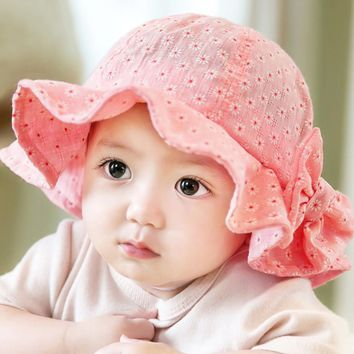 Baby Girl Pink Bucket Hat Toddler Infant Sun Cap Summer Outdoor Baby Girl Bucket Hat Sweet Princess Girl Hat