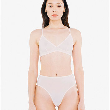 Super Fine Tricot High-Waist Thong | American Apparel