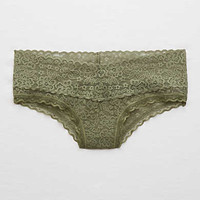 Aerie Vintage Lace Cheeky, Rugged Green