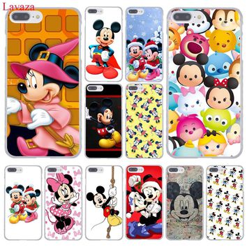 Lavaza Mickey Mouse and Donald Duck Hard Coque Shell Phone Case for Apple iPhone 8 7 6 6S Plus X 10 5 5S SE 5C 4 4S Cover