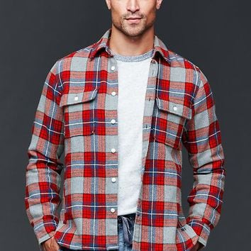 Gap Men Flannel Cabin Shirt Jacket
