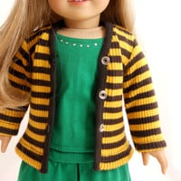 Sweater Cardigans Yellow Brown Stripes