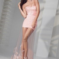 Sexy Column Sweetheart Ruffles Sleeveless Floor-length Elastic Woven Satin Prom Dresses