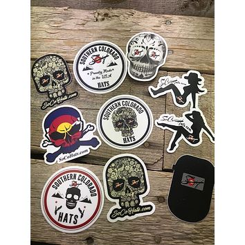 4 Pk. Hood Slap Stickers Durable Vinyl Free Shipping!