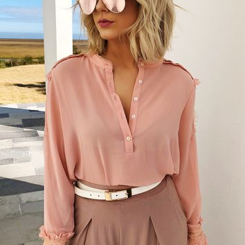 Make It Happen Blouse: Dusty Rose