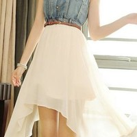 Cowboy chiffon dress