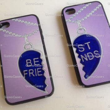 iPhone 4 Case Best Friends Set Rubber Silicone