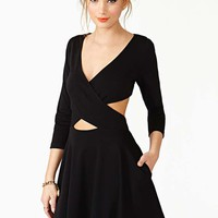 Nasty Gal Crossed Out Skater Dress - Black